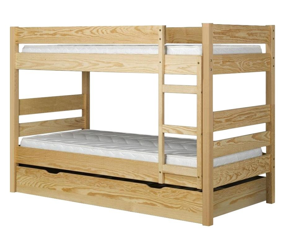 Wooden Bunk Bed 180x80 Cm With Frames Drawer And Ladder On The Right Vesta Ii Bed Buy Cheap Online